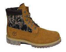 Timberland 6 Inch Mens Wheat Camo Patterned Lace Up Boots