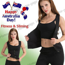 AU Slimming Shaper Women Tummy Weight Loss Hot Thermo Neoprene Sweat Sauna Vest