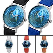 Star Trek Design Vintage Quartz Watch Leather Band Analog Antique Wristwatches