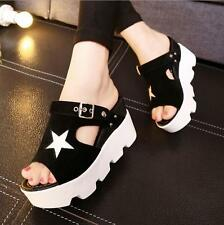 Women New Summer Buckle Platform Peep Toe Casual Shoes Size Wedge Sandals y@