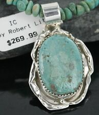 Delicate $450Tag Navajo .925 Sterling Silver Turquoise Native American Necklace
