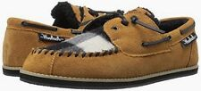 Mens Woolrich Austin Potter Moccasin Slippers, Size 9, Spice/Buffalo Check, NEW