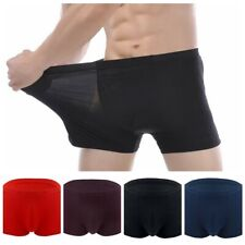 Mens Stretchy Breathe Bamboo Fiber Underwear Boxer Bikini Briefs Shorts Trunks