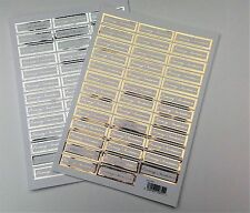 Die Cut Evening Invitation Words / Sentiments Banners / Captions Silver or Gold