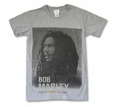 Bob Marley Roots Rock Reggae Heather Grey T Shirt New Official Adult