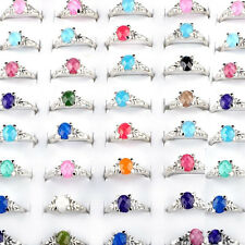 10/30/50/100Pcs Wholesale Mixed Lots Multi-Color Crystal Womens Rings Jewelry US