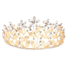 Stunning Bridal Princess Crystal Hair Tiara Wedding Party Crown Veil Headband