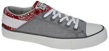 Converse All Star Plimsole Ox Low Mens Grey Red Pattern 148661C D112