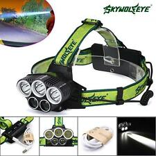 50000LM 5x T6 LED Rechargeable 18650 USB Headlamp Head Light Zoomable Torch KJ