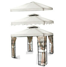 New 10'x10 Gazebo Canopy Top Cover Replacement Outdoor Garden Patio White