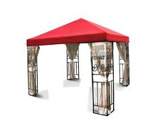 New 10'x10 Gazebo Canopy Top Cover Replacement Outdoor Garden Patio Red