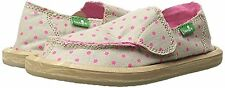 NWT Sanuk BIG GIRL'S Shoes/SANDALS HOT DOTTY TAN/HOT PINK SIDEWALK SURFER