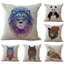 Stylish Animal Panda Tiger Pattern Cushion Cover Home Sofa Car Throw Pillow Case