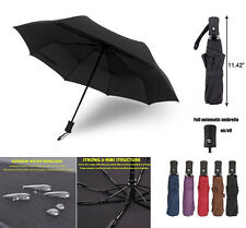 Strong Auto Open Close Windproof Sun Umbrella Compact Folding Telescopic 3 Fold