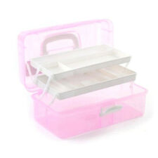 3Layer Storage Case Box Multi Empty Nail Art Craft Makeup Tools Collect Portable