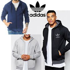 adidas Originals SPO Trefoil Hoodies Mens Full Zip Sweatshirt Track Top Hoody