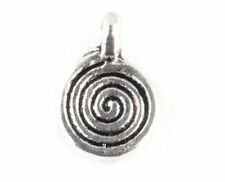 Wholesale40/80/200/400PCS Tibet silver Round Jewelry Art Charms Pendants
