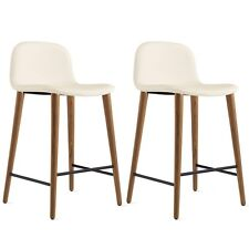 Bacco Counter Stool - Bianco Leather - DWR Design Within Reach Herman Miller