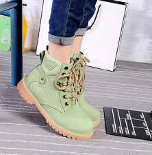 Mens womens High Top Lace Up Round Toe High Top Ankle Boots Militray Army Shoes