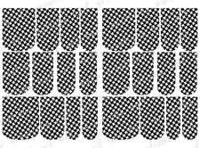 24 FULL COVER Water Slide Nail Decals * HOUNDSTOOTH * 12 SIZES NAIL WRAPS + TOES