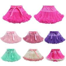 Kids Girl Toddler Tulle Tutu Skirt Princess Bowknot Short Ballet Dance Dress New