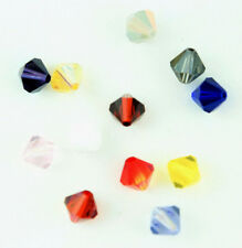 Swarovski 5301 Crystal Bicones Assorted Colors 8mm (4) AB Satin