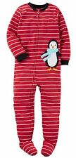 NWT ☀FOOTED FLEECE☀ CARTERS Boys PENGUIN Pajamas 12m  2T  4T