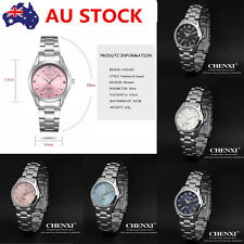 Luxury Women Rhinestone Stainless Steel Dress Wrist Watch Fashion Quartz Watch
