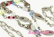 Brighton PAINTED GARDEN Long Flower Necklace NWTag $118