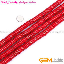 """Genuine Natural  Freeform Rondelle Red Coral DIY Jewelry Making Beads Strand 15"""""""