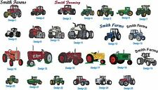 6 Shirts Embroidered Free4Ur Farm W Tractor & UrName Case IH White Ford 9N &More