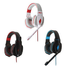 Stereo Gaming Headphone Headset Headband with Mic Volume Control for PC Game