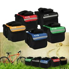 Cycling Bicycle Bike Top Frame Front Pannier Saddle Tube Bag Double Pouch HG