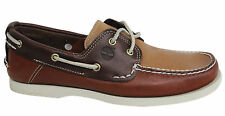 Timberland 2 Eye Classic Lace Up Mens Boat Shoes Brown Leather A13IN D136