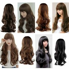 Fashion Lovely Women Girl Wig Long Natural Wavy Curly Hair Cosplay Party Wigs HG