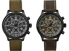 Timex Expedition Chronograph Leather Strap Gents Watch
