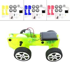 Mini Funny Solar Powered Toy DIY Car Kit Children Educational Gadget Hobby GH