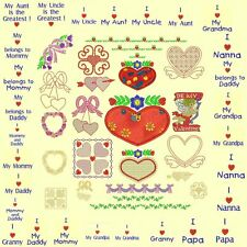 Hearts & Flowers Machine Embroidery CD-55 Designs- By Anemone Embroidery