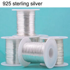 100 cm 925 Sterling Silver DIY Thread String Cord Wire Jewelry Beading Craft