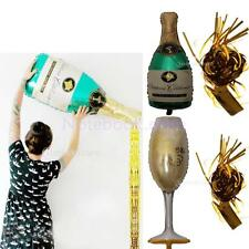 Champagne Wine Bottle Large Balloon Tassel Foil Balloon Christmas Wedding Party