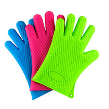 Kitchen Heat Resistant Silicone Glove Oven Pot Holder Baking BBQ Mitt Little