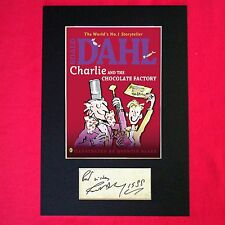 ROALD DAHL Charlie and the Chocolate Factory Book Autograph Signed Reprint 677