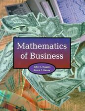 Mathematics of Business 1E by Bruce F. Haney / John E. Rogers (1999, Paperback)