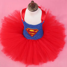 Super Hero Superman Batman Supergirl Fancy Dress Costume Party Cosplay Clothy
