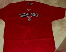 Chicago Bulls Throwback T-shirt Hardwood Classics Chicago Stags Red NBA