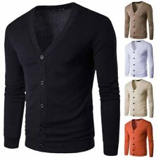 Mens Stylish Long sleeve V Neck Sweater Button Hot Sale Knitwear Jumper Cardigan
