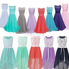 Kids Girls Ball Prom Gown Formal Wedding Bridesmaid Party Pageant Chiffon Dress
