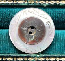 Antique Button Carved Mother of Pearl MOP Shell Nice 2 Color Design 22mm