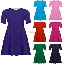 New Kids Girl O-Neck Short Sleeve Tiered  Pullover Dress 35DI