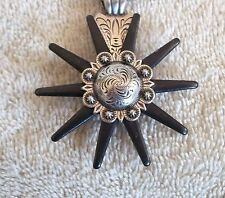 Necklace Western Cowgirl Choker Chunky Pendant SPUR ROWEL  CONCHO